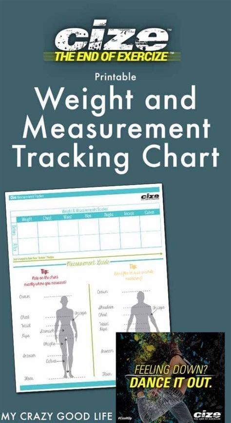 cize weight  measurement tracker  crazy good life