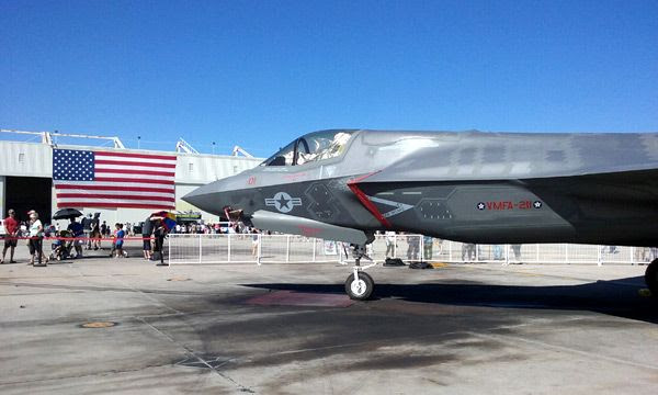 Another F-35B Lightning II on display at the Miramar Air Show...on September 24, 2016.