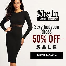 SheIn -Your Online Fashion Bodycon Dress