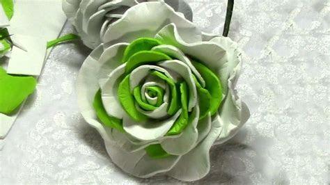 How to make Foam Flower, DIY, Tutorial Foam Rose #2   DIY