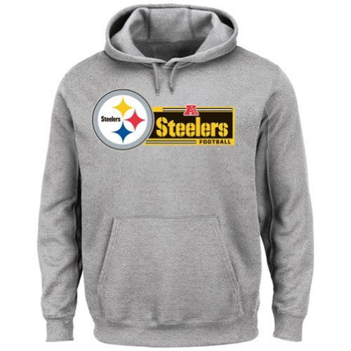 NFL Apparel Mens Big and Tall Pittsburgh Steelers Critical Victory VII Hoodie