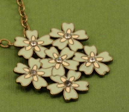 Green Hydrangea Necklace