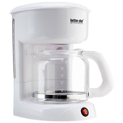 Better Chef 12 Cup Coffee Maker, White