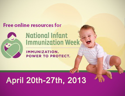 It's National Infant Immunization Week -- find out more about what vaccinations are needed on http://www.vaccines.gov/