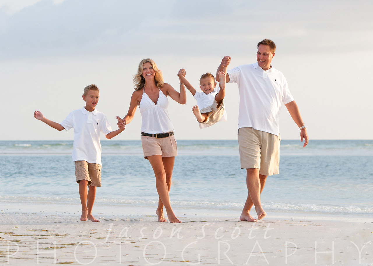 Family Beach Portraits by Jason Scott Photography - Family Pictures on Siesta Key Beach, Longboat Key, Englewood Beach, Venice Beach, or Anna Maria Island