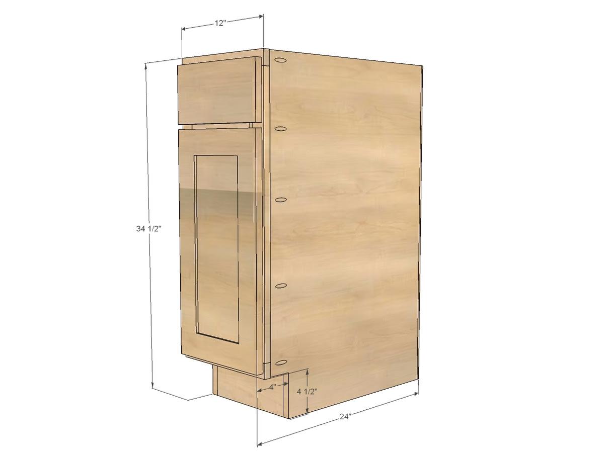 "12"" Base Cabinet Door/Drawer Combo (Momplex White Kitchen ..."