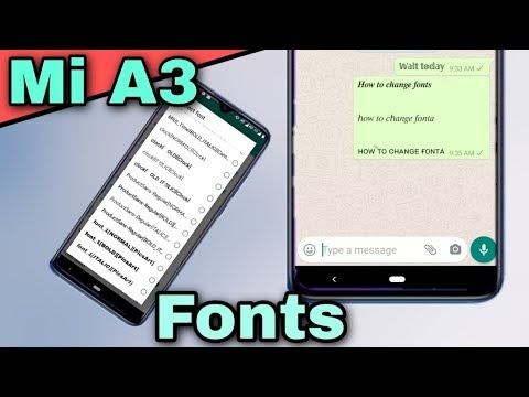 How to change fonts on mi a3