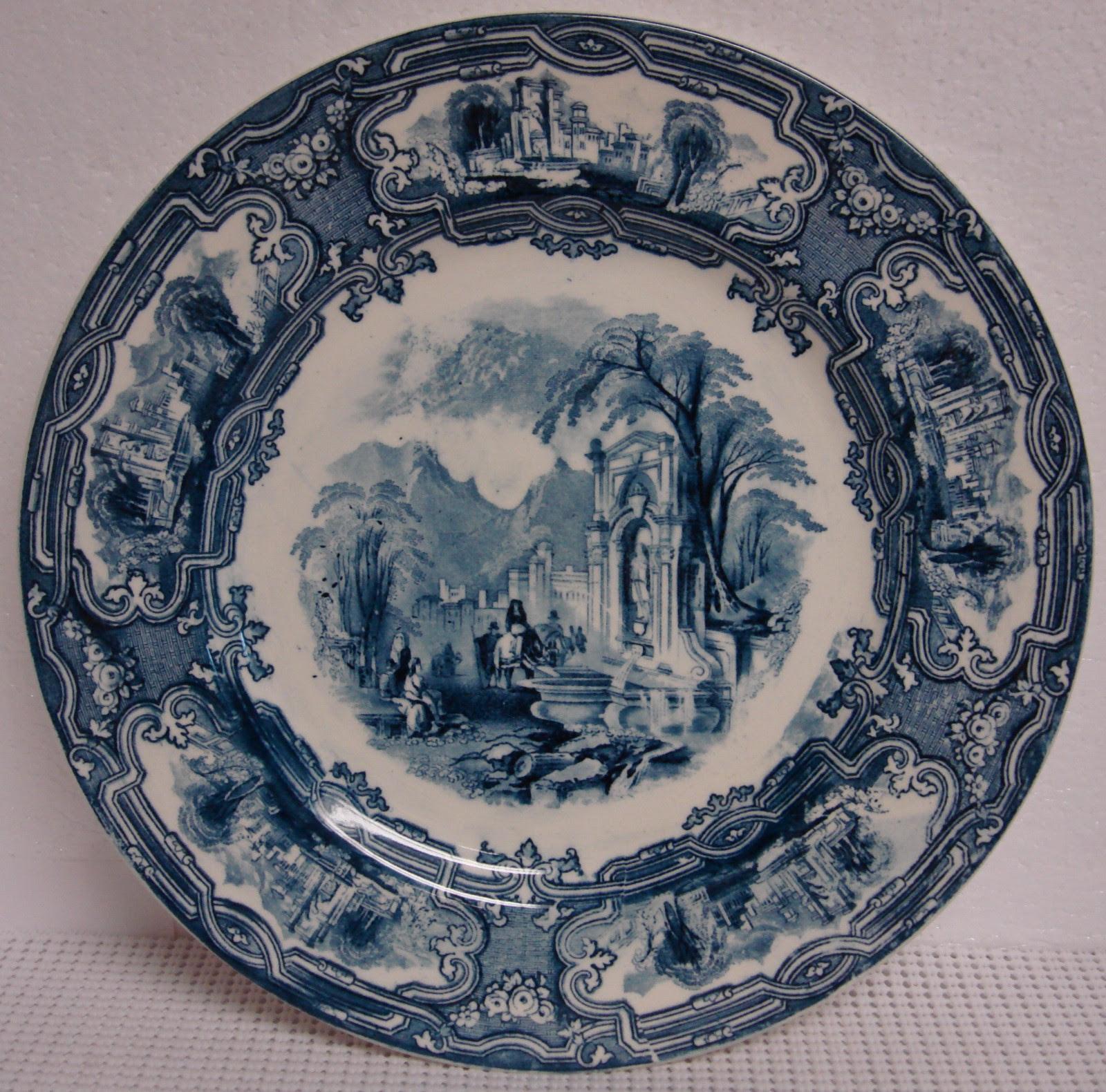 Grimwades Genoa Blue Dinner Plate Davenport England Flow | eBay