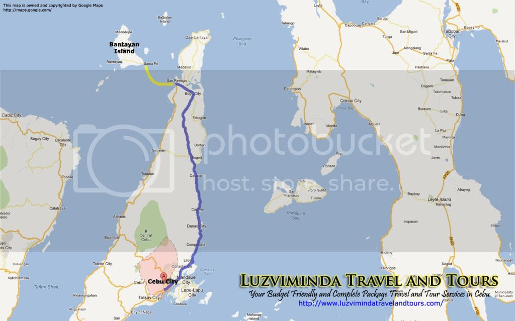 Cebu City + Bantayan Island Hopping in Cebu Tour Itinerary Package Route
