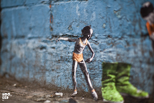 Miniature London Street Art, by Mexican street artist Pablo Delgado. Photo ©Mark Rigney / Hookedblog