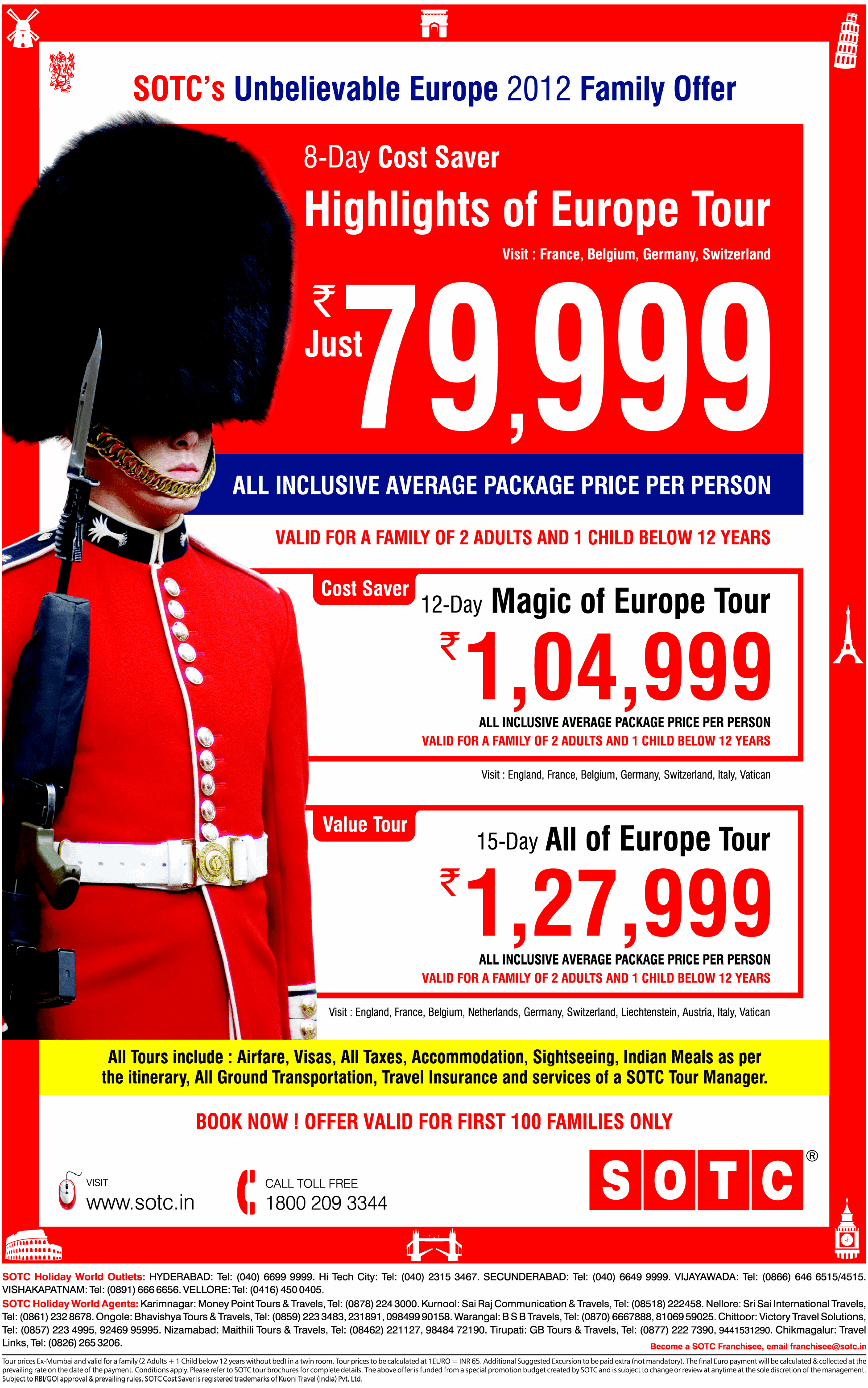 SOTC presents Unbelievable Europe 2012 Family Offer  DealsHut