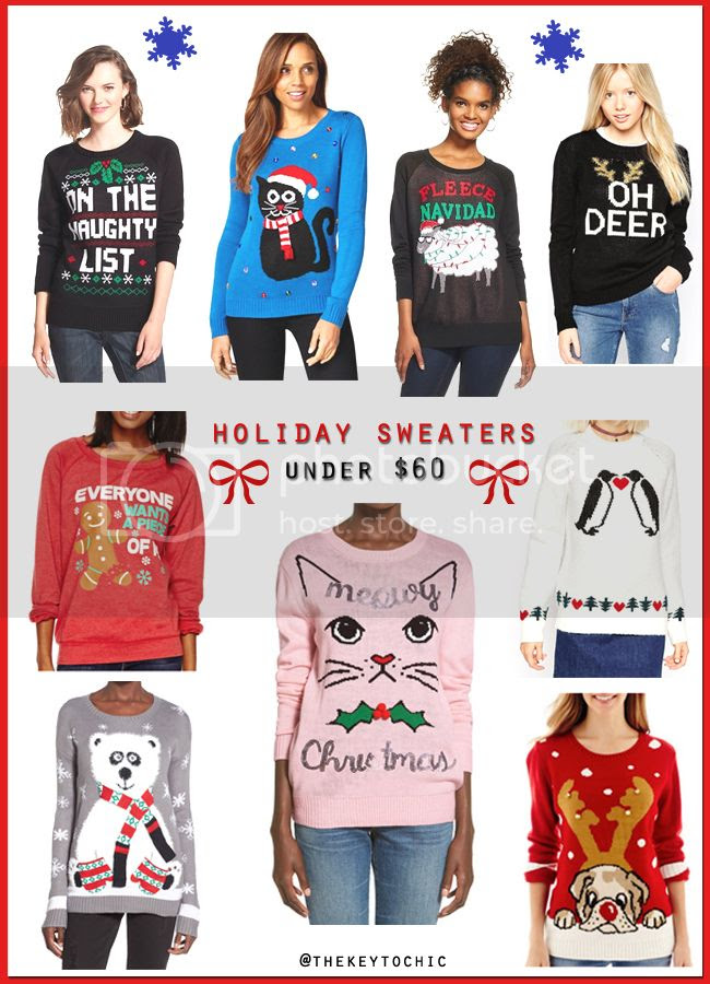 cute and ugly holiday sweaters for fall winter 2015