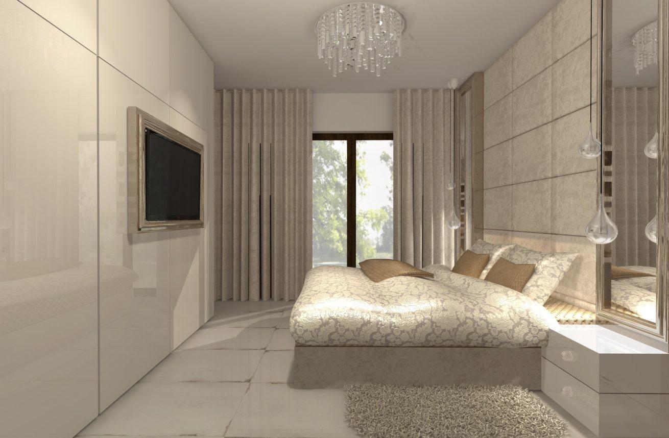 Sypialnia W Stylu Glamour Dom Letniskowy Mj Design