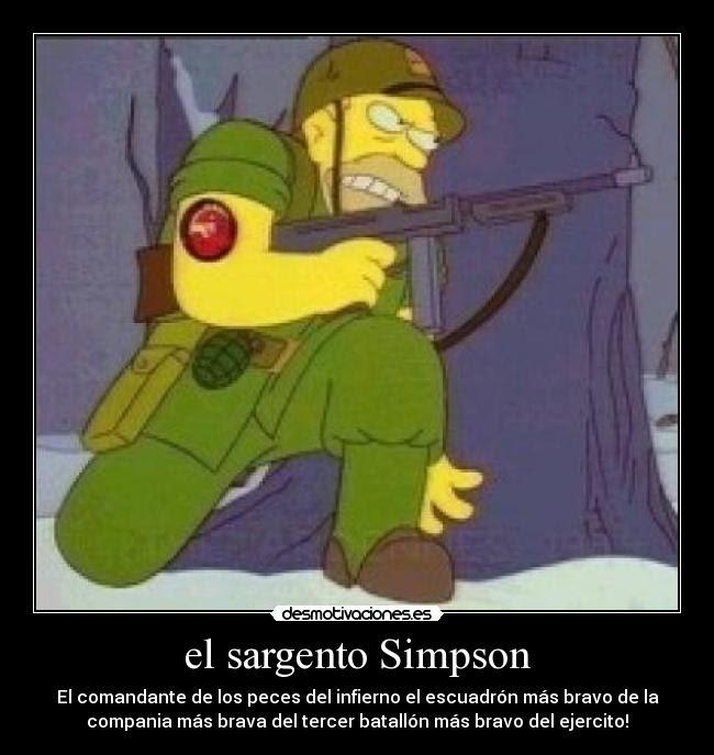 El Sargento Simpson Desmotivaciones