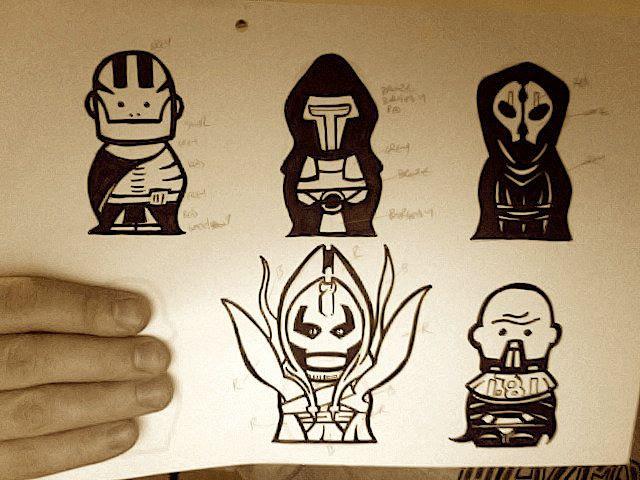 Sketching the Dark Side