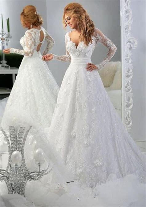 In 2016 New York long sleeved blouse/ivory white wedding
