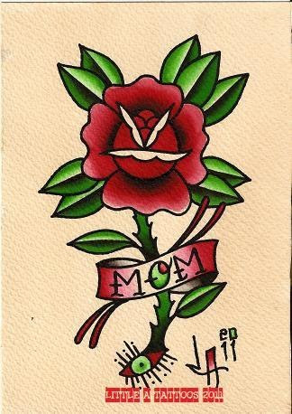 Traditional Rose Tattoo Drawing At Getdrawingscom Free For