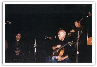 Junto a Mikel Laboa, en Olomouc (República Checa), octubre de 2004