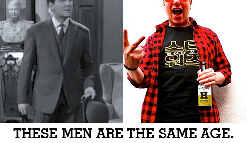 These men are the same age.
