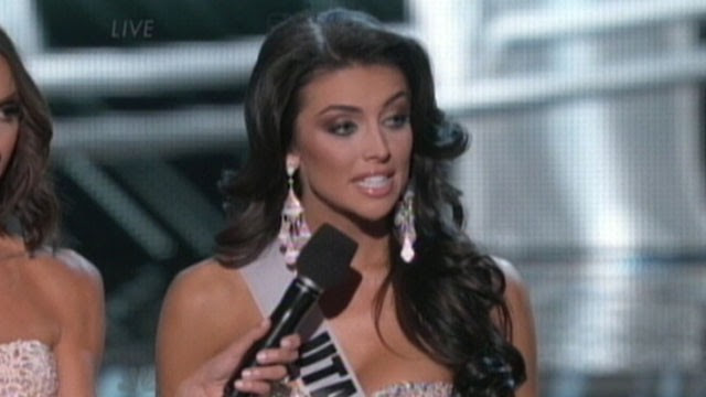 VIDEO: Miss Utah Marissa  Powell struggled to answer a question about women's wages.
