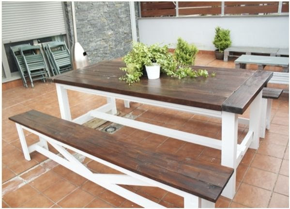 diy table and bench