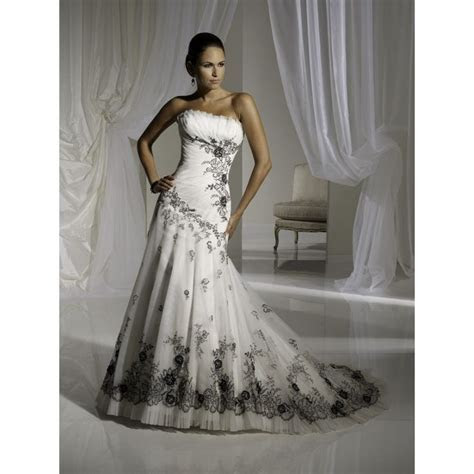 Cheap Black And White Wedding Dresses   Dress FA