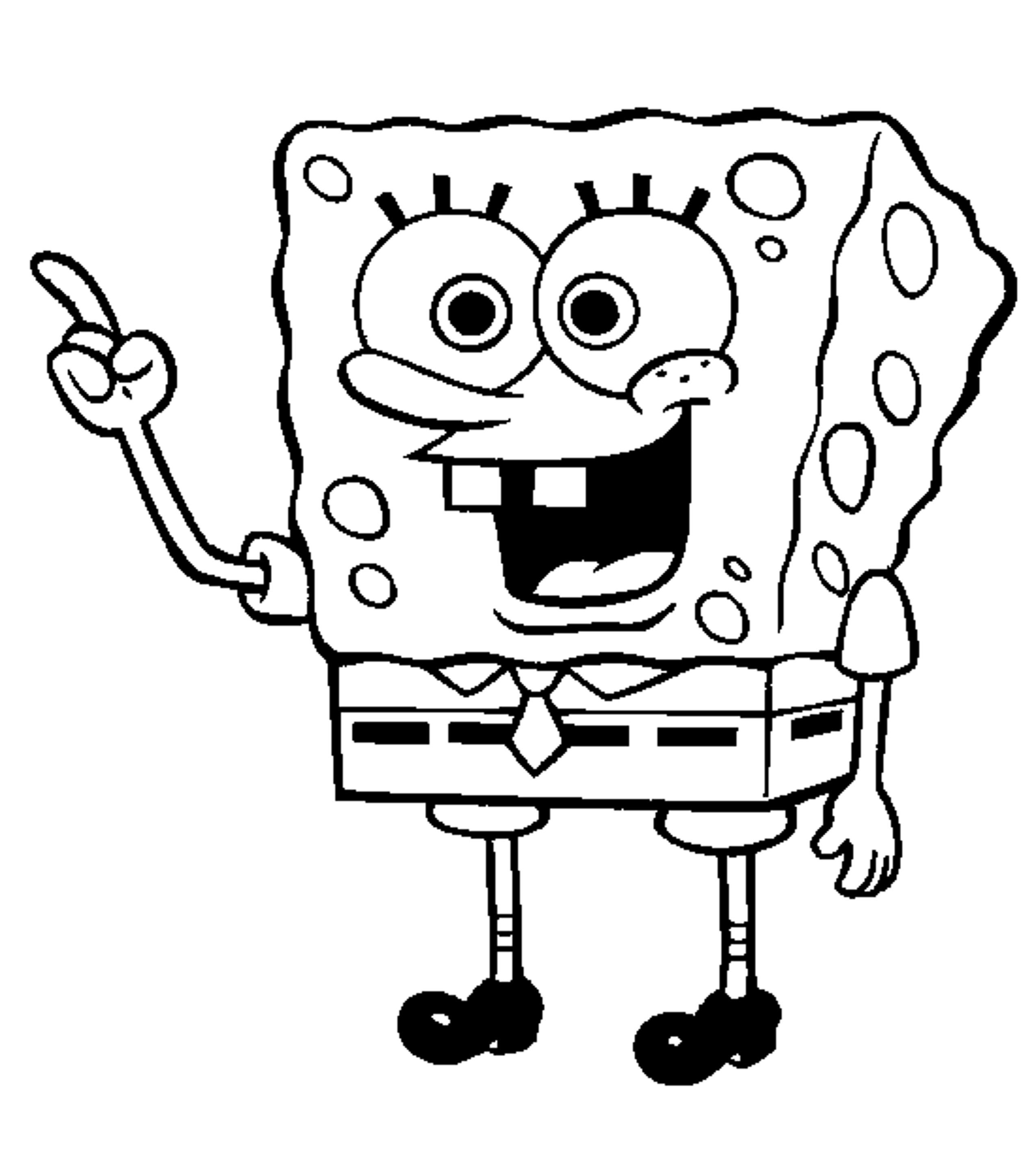 620 Coloring Pages Of Spongebob Squarepants For Free