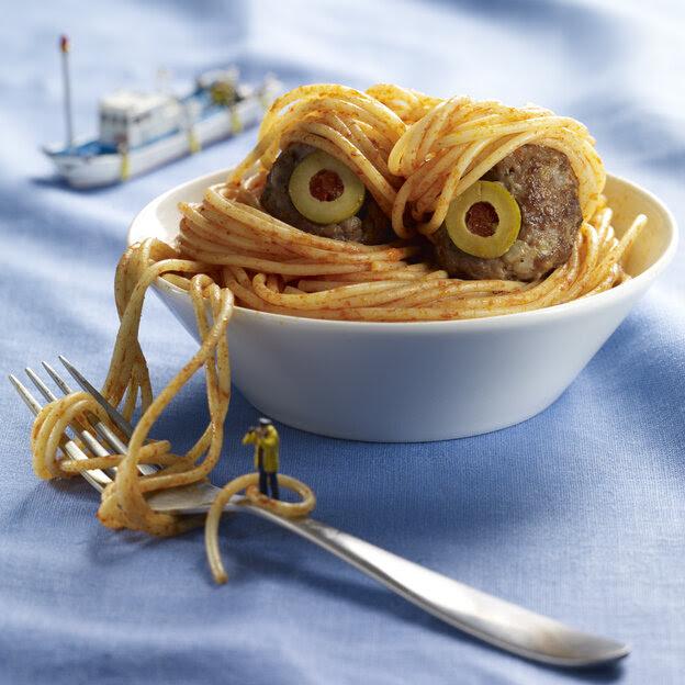 Spaghetti sea monster.
