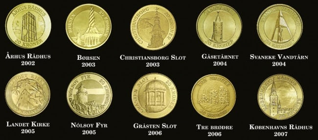 Colección de monedas danesas. Foto: http://coleccionesdemonedas.blogspot.mx