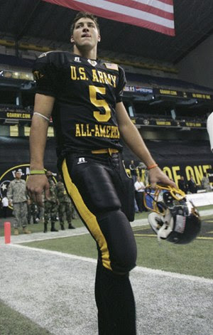 A photo of Tim Tebow at the US Army All-Americ...