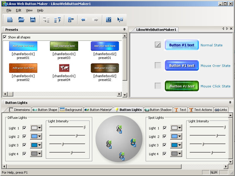 برنامج Web Button Maker Deluxe
