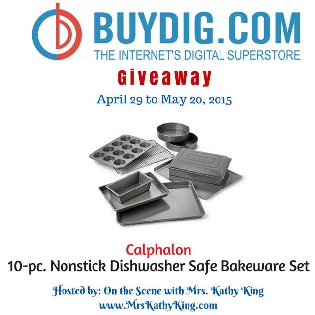 Enter the BuyDig Calphalon Bakeware Giveaway. Ends 5/20