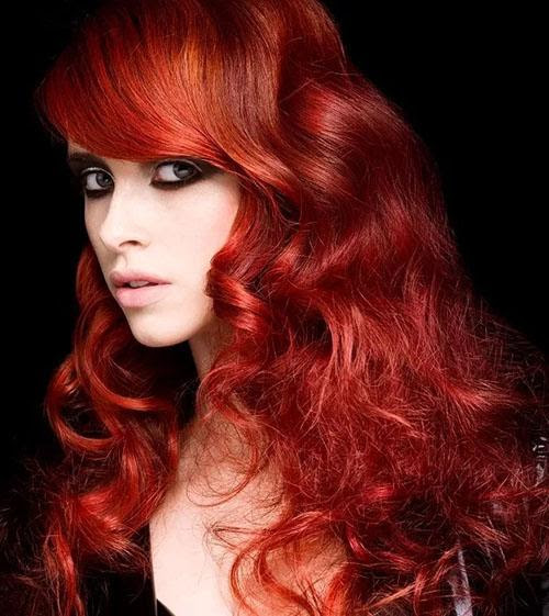 Ruby red Hair; achieve dazzling results   Red Hairstyle
