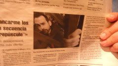 I made it into a Spanish newspaper