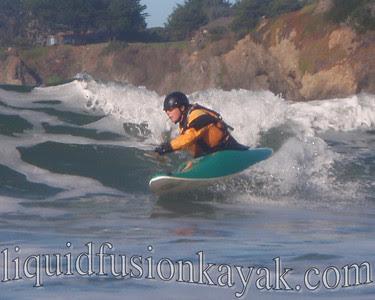 Kayak Surfing Mendocino