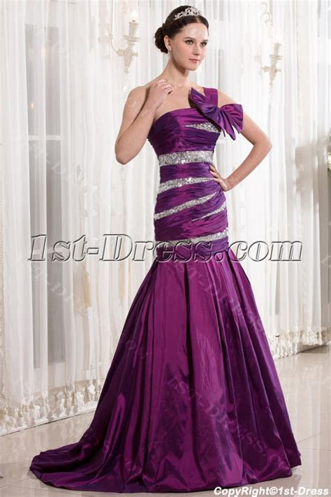 Fuchsia Mermaid Style Quinceanera Dresses with One