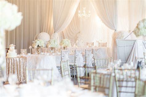 Stunning All White Ontario Wedding Reception at Deer Creek