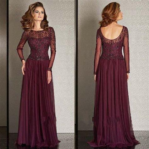 burgundy mother   bride dresses chiffon lace