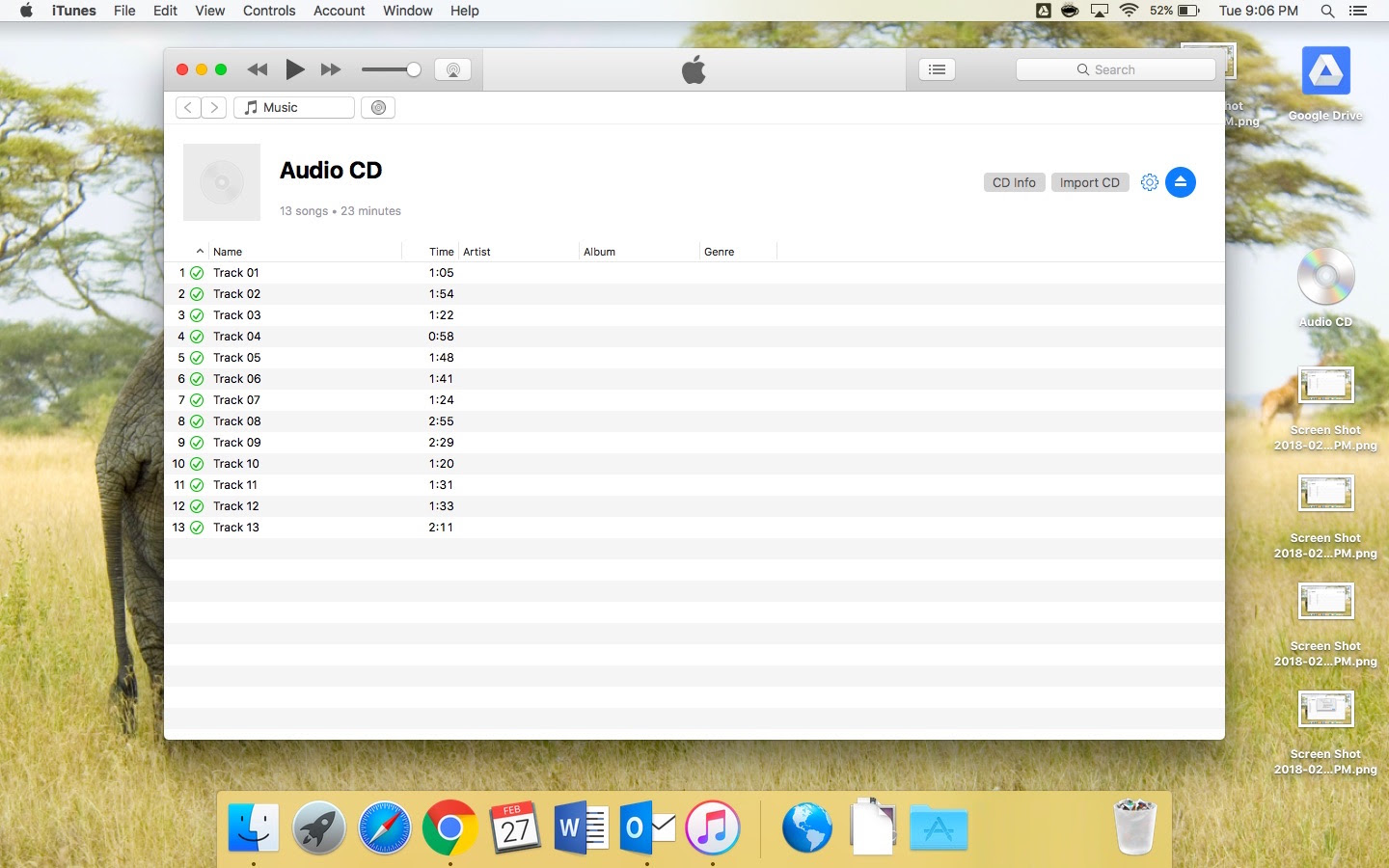 Ripped CD to mp3 successfully achieved in iTunes