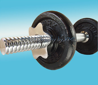 barbell isolated in photoshop with new background