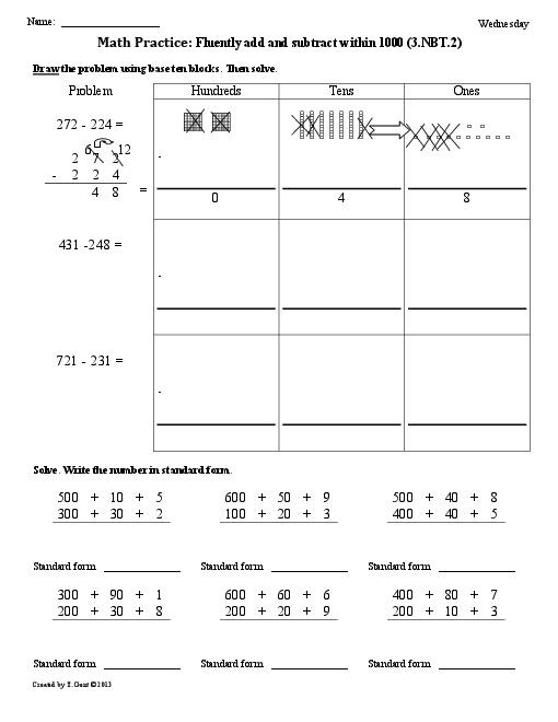 17 Best Images of First Grade Common Core Math Worksheets  Common Core 3rd Grade Math