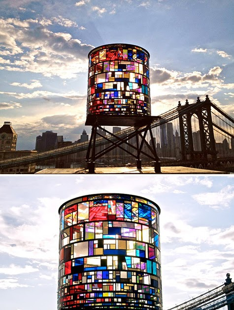watertower by tom fruin