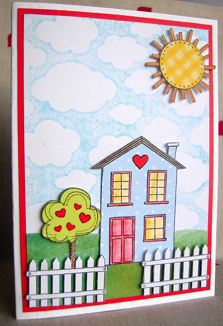 Home is Where the Heart is - Blog Hop Card