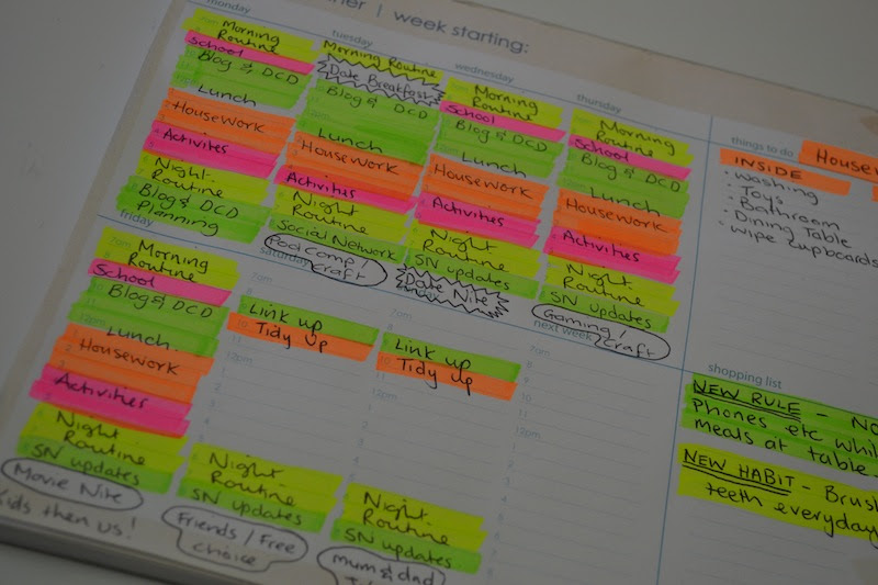 Time Management! Using a weekly planner to plan my time ...