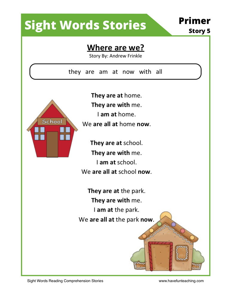 Sight Word Worksheet NEW 263 SIGHT WORDS AND READING