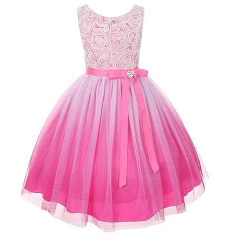 ombre flower girls dress christmas pageant party wedding