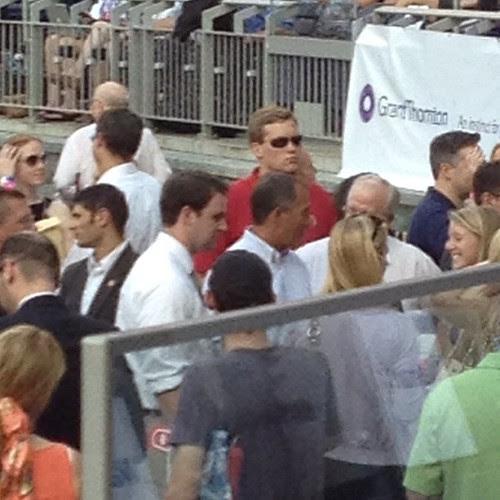 Boehner working the crowd