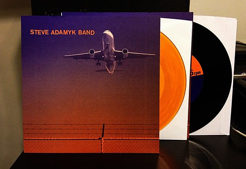 "Steve Adamyk Band - High Above 7"" - Black Vinyl & Orange Vinyl (/150) by Tim PopKid"