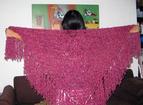 Drop Stitch Shawl for Mom