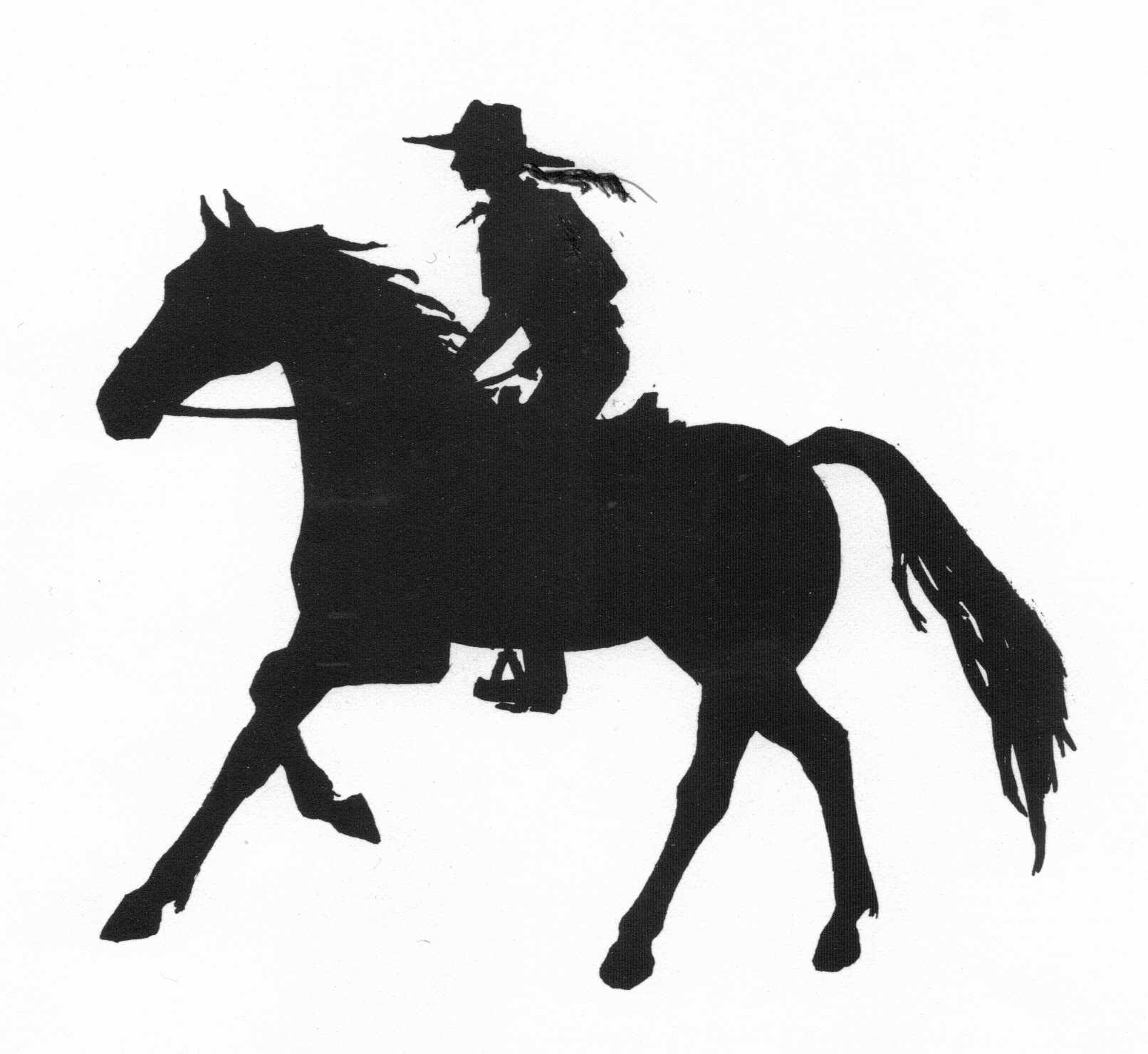 silhouette of girl riding a horse on a riding safari by Sophie Neville